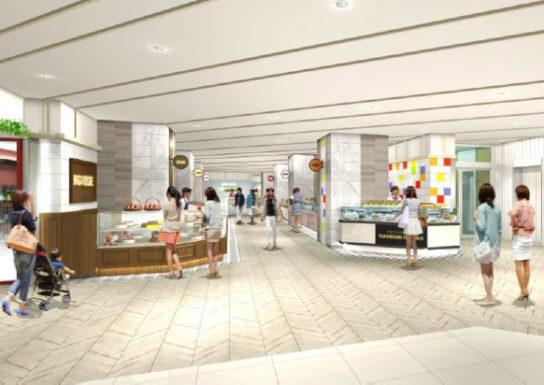 南館1階 食物販ゾーンイメージ