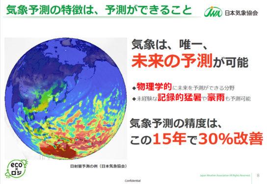 気象予測の精度は15年で30%改善した