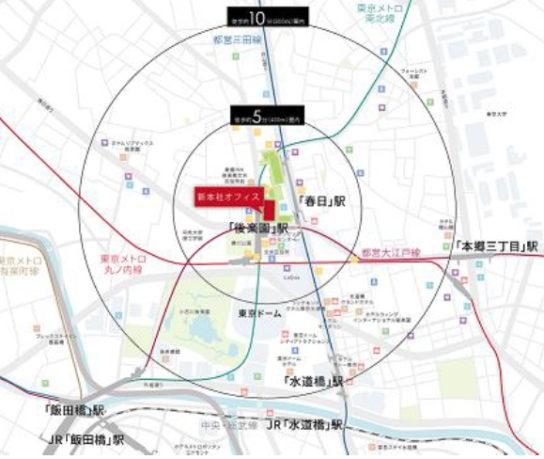 新本社周辺地図