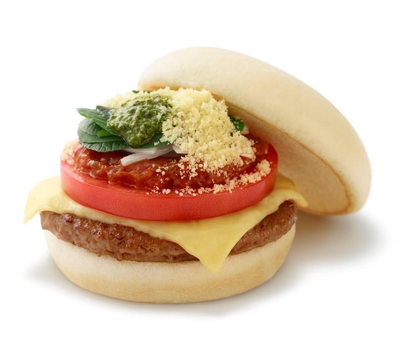 モスフード/ピザをハンバーガーで表現した「マルデピザ」