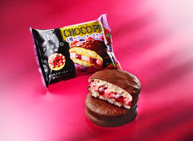 ロッテ/PABLO監修チョコパイの「4種ベリーのチーズケーキ」