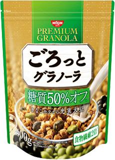 ごろっとグラノーラ 糖質50%オフ きなこ仕立ての充実大豆