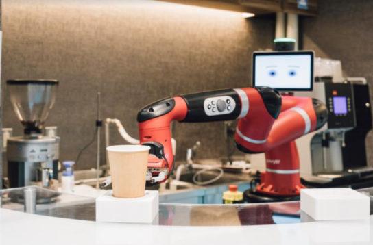 ロボットがコーヒーを販売・提供