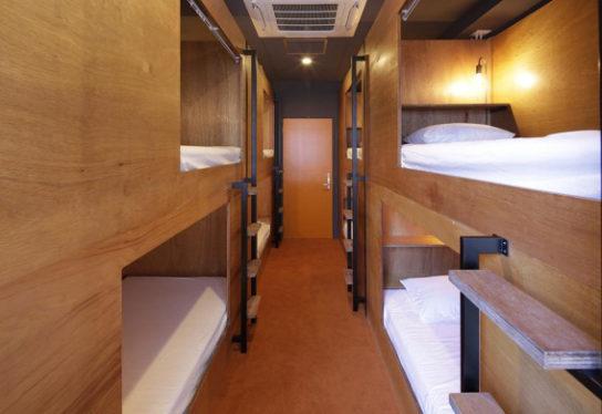 宿泊施設は、最大で64名が宿泊できる