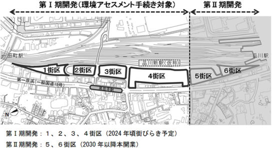 新駅の配置図