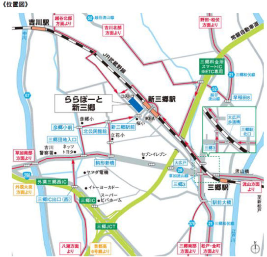 20180214rara5 544x523 - ららぽーと新三郷/2018年春刷新、地域最大級のGUなど新規23店オープン