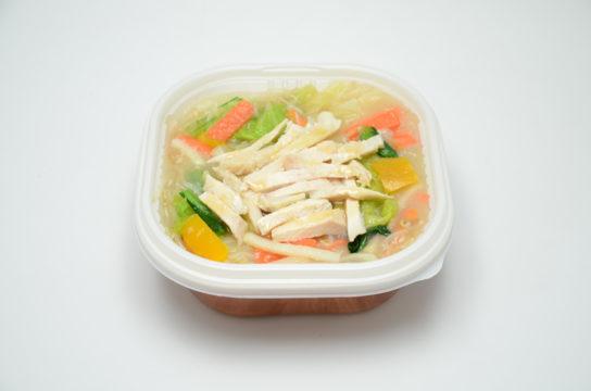 1/2日分の野菜!サラダチキンあんかけ丼(税込450円)