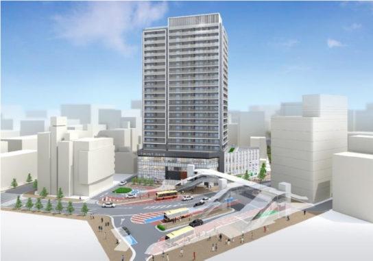 本厚木駅南口地区の再開発イメージ
