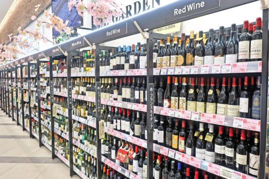 酒ではワインを訴求