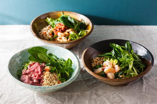 旬の有機野菜をたっぷりと使用したオリジナルメニュー