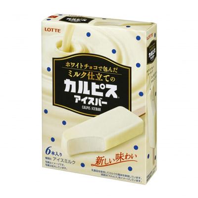 ホワイトチョコで包んだミルク仕立てのカルピスアイスバー