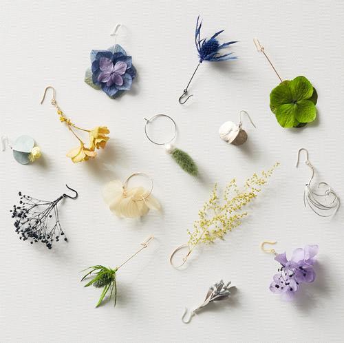 KUNIE KATORIの花や植物をモチーフとしたオリジナルアクセサリー