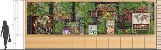 壁面緑化イメージ