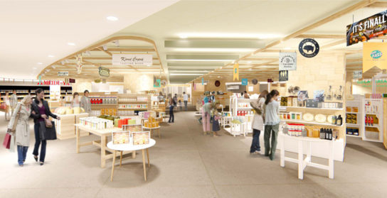 3階は「地方の物産・名産品の集積」や「ライブ感」発信