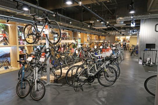 約300台の自転車がそろう