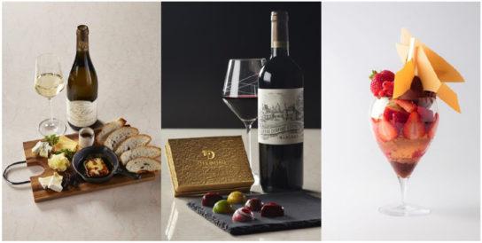 スイーツ、チーズ、ワインのマリアージュ