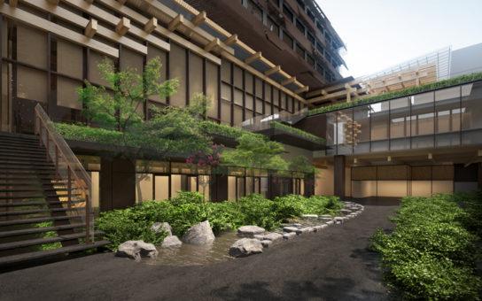 地域に開放された中庭