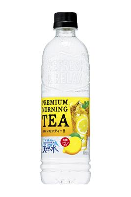 20180412suntry2 - サントリー/透明な白桃ティー「天然水 PREMIUM MORNING TEA 白桃」