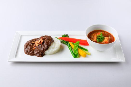 nakato ダブルカレー 「野菜カレー」と「ドライカレー」