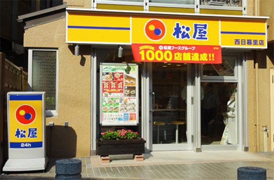 松屋フーズの店舗