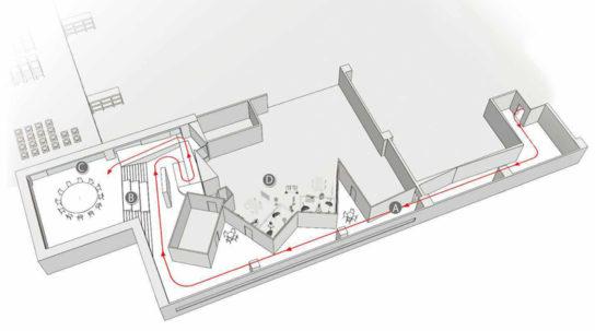 ショールームスペース全体図