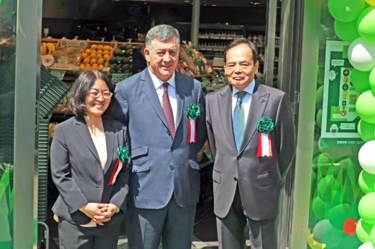 土谷社長(左)