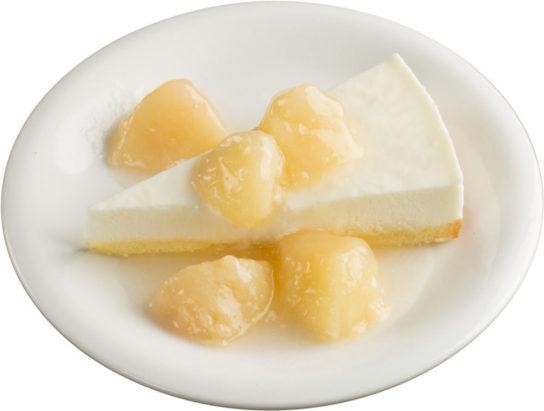 ごろっと桃のチーズケーキ