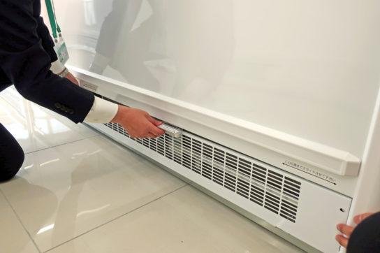 冷蔵ケースのフィルター清掃