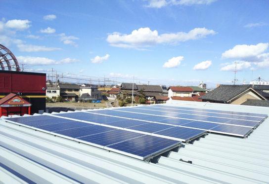 太陽光パネルの設置例