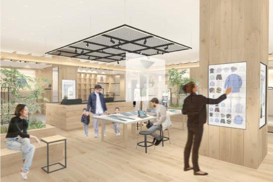 コミュニティスペースを店内中央に設置