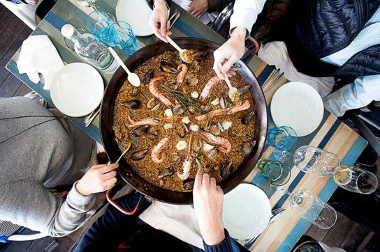 「チリンギート エスクリバ」のパエリア
