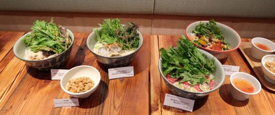 1日に必要な野菜量の半分摂れるサラダボウル、フォー