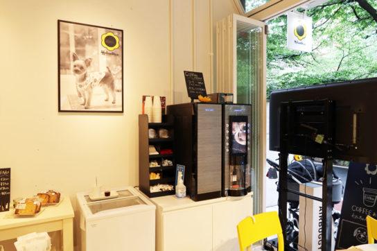 人間用のカフェスペース