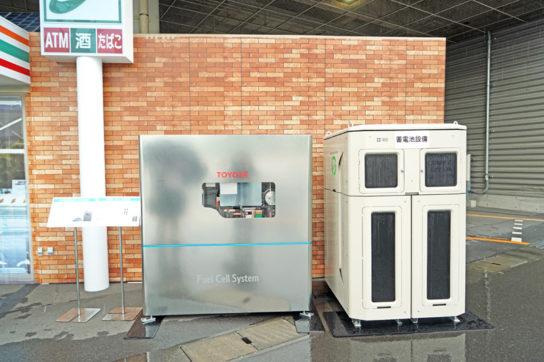 定置式のFC発電機とリユース蓄電池