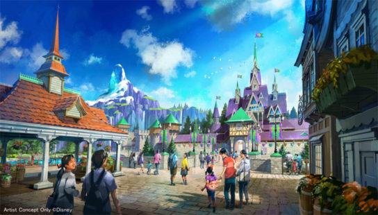 アナと雪の女王をテーマとしたエリア