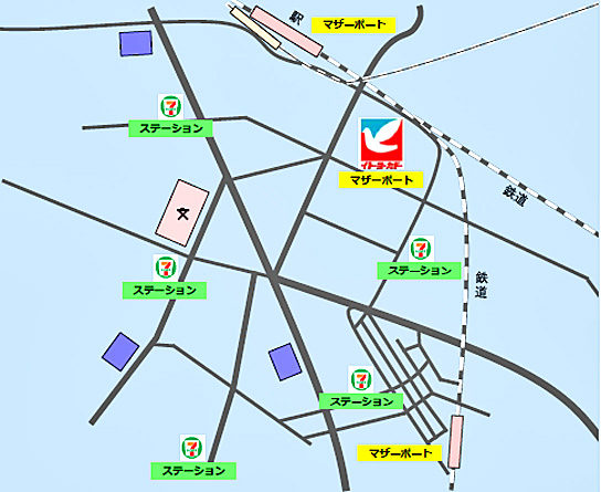 マザーポートと一般ステーションの相関図