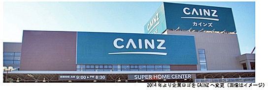 カインズの店舗外観イメージ