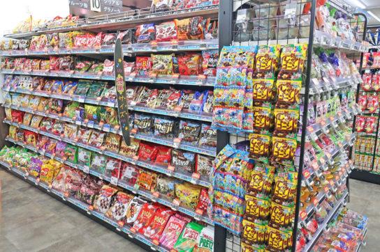 ファミリー向けの大容量菓子も販売