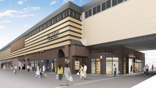 洛西口駅東側から見た施設のイメージ