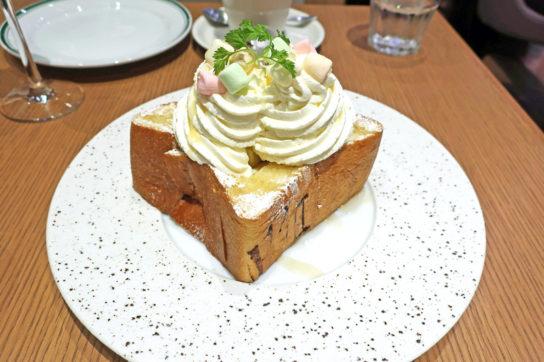 銀座の食パンのハニートースト
