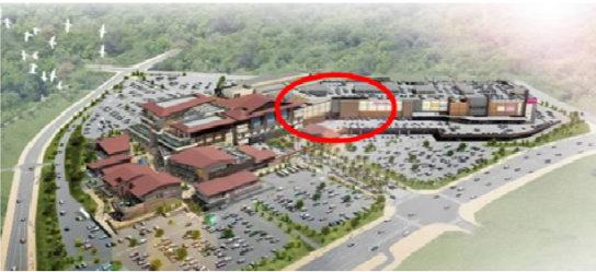 イオンモール沖縄ライカムの駐車場一部を店舗化