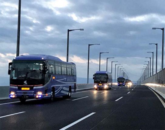 20180905kanku1 544x429 - 関空連絡橋/空港内のコンビニ等への物資輸送などで緊急車両が通行