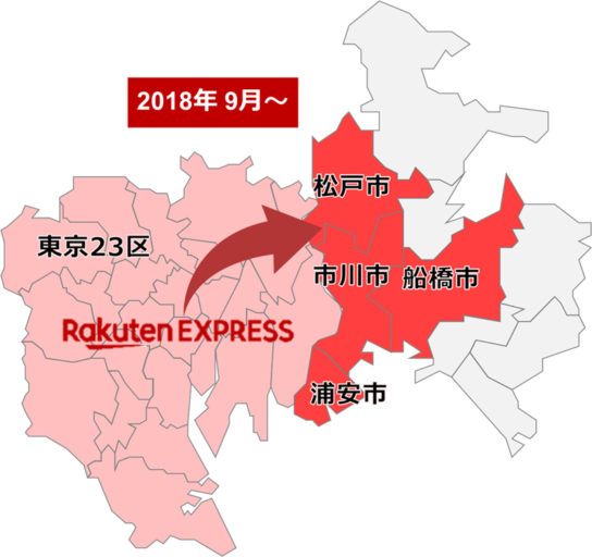Rakuten-EXPRESSの配送エリア