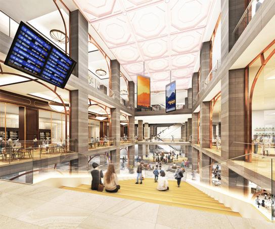 バスターミナル待合空間を核とした賑わい拠点「ばす.まち空間」のイメージ