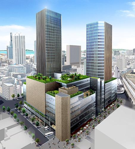 雲井通5丁目地区再整備事業の将来的なイメージ
