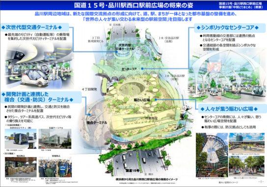 国道15号・品川駅西口駅前広場の将来の姿