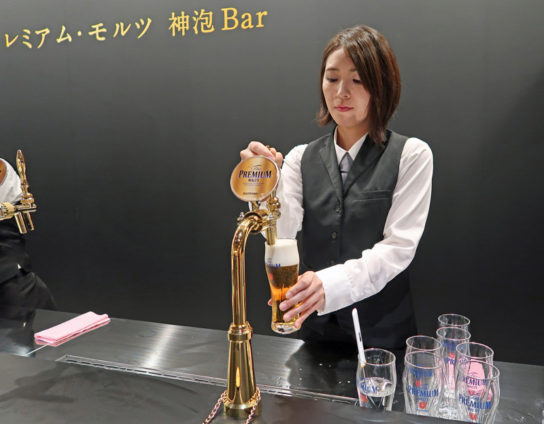 「神泡」を通じてビールならではの魅力をアピール