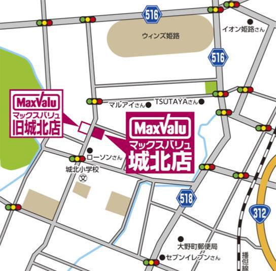 城北店の位置図