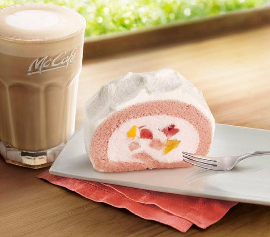 いちご&もも贅沢ロールケーキ