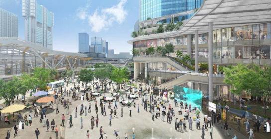新駅歩行者広場のイメージ